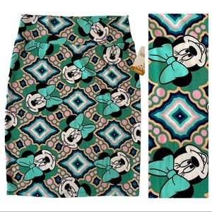 NWT LuLaRoe Minnie Mouse Cassie Skirt, Large